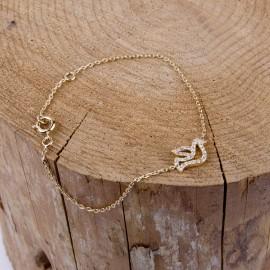 Bracelet gold plated doves