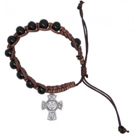Wooden bracelet with crosses Holy protectors tenainier