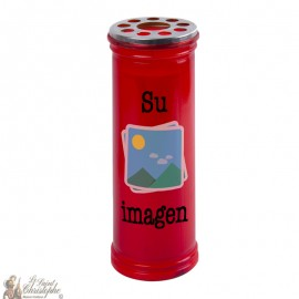 Customizable votive red candle