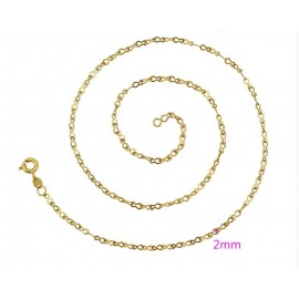 Gold plated chain 24 k - 43 cm