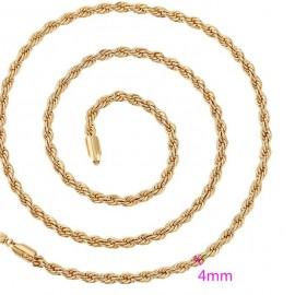 Catena placcata oro 24 k - 50 cm
