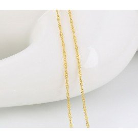 Gold plated chain 24 k - 45 cm