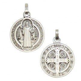 Heilige Benedictische Medaille Zilver 925