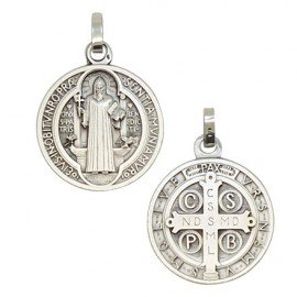 Medaglia San Benedetto Argento 925