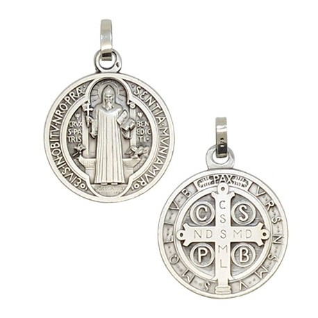 Saint Benedict Medal Silver 925