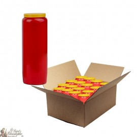 Red novena candle - cardboard 20 pieces
