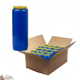Blue novena candle - cardboard box 20 pieces