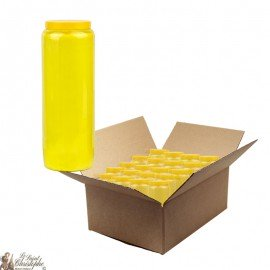 Yellow novena candle - cardboard 20 pieces