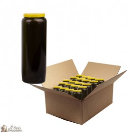 Black novena candle - cardboard box 20 pieces