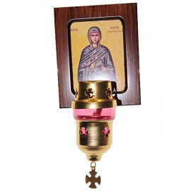 Frame Icon Greek lamp - orthodox