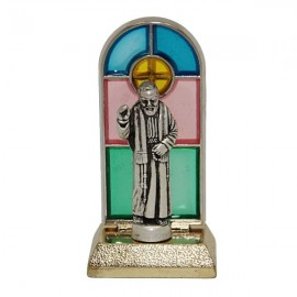 Padre Pio stained glass statue