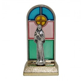 Holy Rita, stained glass statue