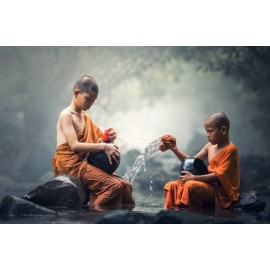 Poster Enfants bouddhistes