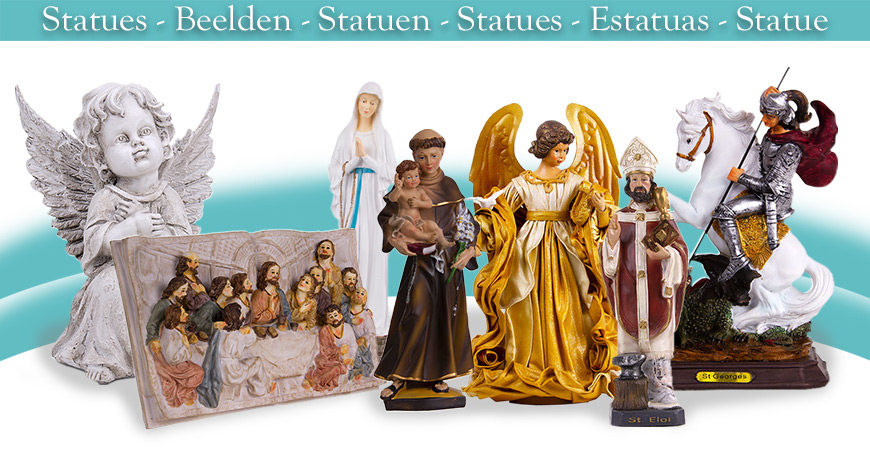 Banner with statues from our website